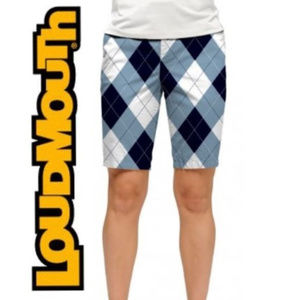 LOUDMOUTH LADIES Blue & White Bermuda Shorts - 12